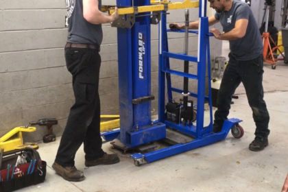 2 post lift service portable lift for equipment service automotive lifts tire changers MPL lift MPL1000